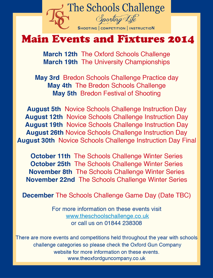 Poster for 2014 events