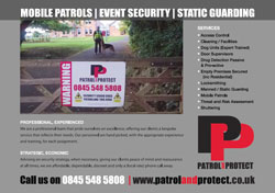 Patrol and Protect Advert