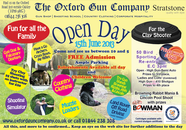 Open Day June 2013 advert